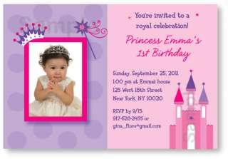 Pretty Princess Castle Birthday Invitation Printable