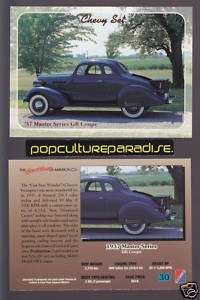 1937 CHEVROLET MASTER SERIES GB COUPE CAR Chevy Card