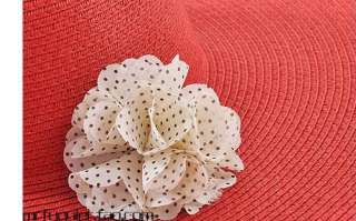 1pcs x Lovely Girl Lady Chiffon Dot Rose Flower Hair Clips Hairpin