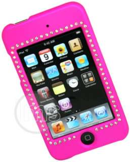 HOT PINK HYBRID DIAMOND CASE FOR IPOD TOUCH 2G & 3G UK