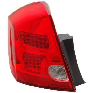 Anzo USA 321166 Nissan Sentra Red/Clear LED Tail Light Assembly
