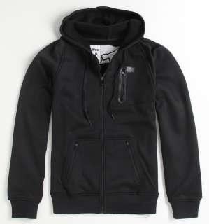 Black Fleece Zip Hoodie Sweatshirt tech Jacket New NWT
