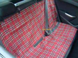RED TARTAN DOG CAR SEAT COVER WATERPROOF PET PROTECTOR