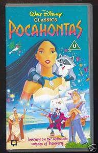 DISNEY   POCAHONTAS   VHS PAL (UK)   ORIGINAL HOLOGRAMS