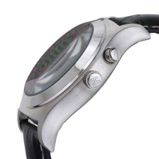 Helbros Roulette Black Leather Strap/Roulette Wheel