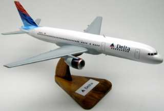 Boeing B 757 Delta Airlines Airplane Wood Model Big FS