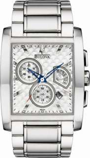 BULOVA MARINE STAR CHRONO SILVER DIAL MENS WATCH 96C104
