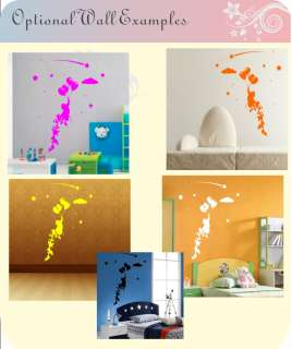 Child Balloons Flying Away Stars Fairytale Kids Wall art Stickers