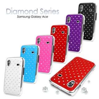 DESIGN DIAMANTE BLING CASE COVER FOR SAMSUNG GALAXY ACE S5830