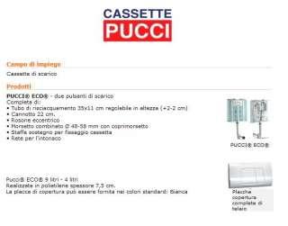 CASSETTA SCARICO INCASSO 9 Lt PULSANTE ALTO PUCCI  ECO