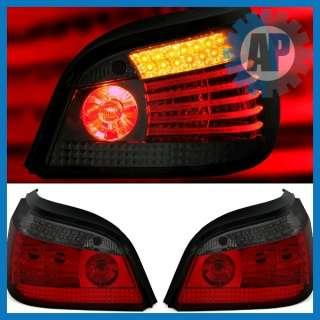 LED TAIL LAMPS REAR LIGHTS LCI RED SMOKE BMW 5 SERIES E60