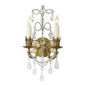 Visual Comfort SK2008HAB Suzanne Kasler 2 Light Hannah Wall Sconce in