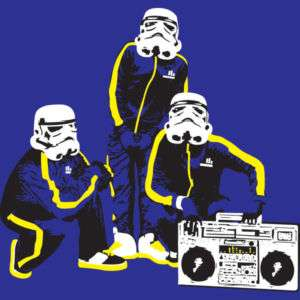 STAR WARS RAP Hip Hop Retro Vintage Skateboard T Shirt
