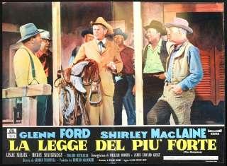 CINEMA fotobusta LA LEGGE DEL PIU FORTE ford,maclaine