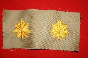 CLOTH RANK INSIGNIA M42 PARA SMOCK MAJOR WWII