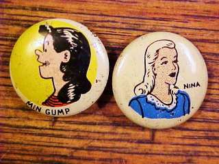 Kelloggs Pep Cartoon Pin(Min Gump, Nina)
