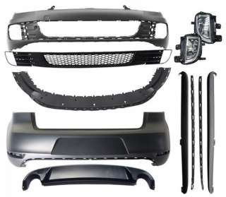 Front Bumper Fog Lamp Cover and Grille Front Bumper Skirt Fog Lamp Set