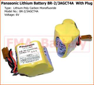 Panasonic Lithium Battery 6V BR 2/3AGCT4A PLC w/Plug
