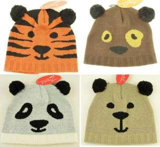 Boys Girls Novelty Animal Ski Hat Tiger Bear Dog Panda