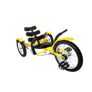 Mobo Mobito   The Ultimate Three Wheeled Cruiser 16 inch   Yellow