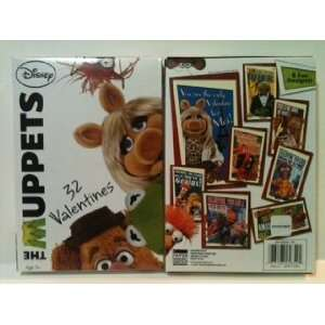 Disneys The Muppets 32 Valentines Day Cards for Kids