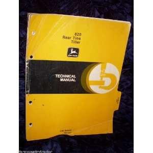 John Deere 820 Rear Tine Tiller OEM Service Manual: John Deere: Books