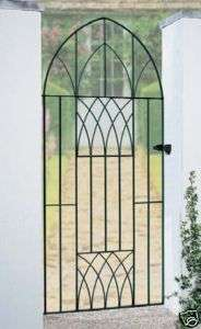 WROUGHT IRON GATES METAL GATE BOW TOP GATE ABBEY 3FT