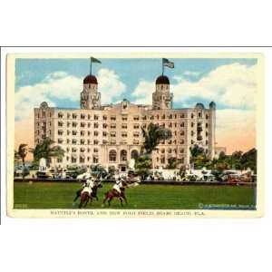 Reprint Nautilus Hotel and new polo field, Miami Beach, Fla: