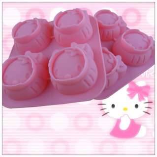 New Hello Kitty Shape Silicone Cupcake Mould Mold Maker