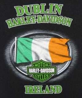 Evil Leprechaun Mens T shirt Dublin Harley Davidson