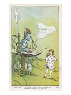 Alice Walks Away from the Caterpillar Giclee Print by W.h. Walker at