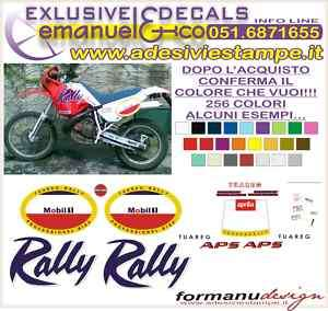 KIT ADESIVI DECAL APRILIA TUAREG 125 RALLY 1990