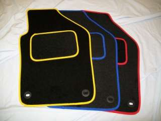 VW POLO 2003 2009 BRAND NEW BLACK CAR MATS BLUE BINDING