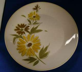 Mikasa Sunland Chop Plate Yellow flowers green nice A4