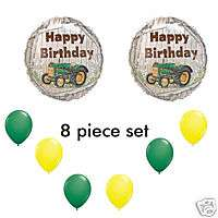 John Deere like Tractor Birthday Balloons Party Favors