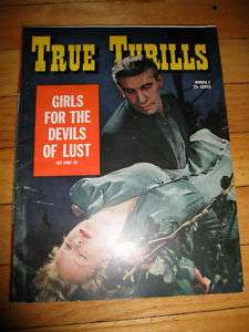 True Thrills Magazine 1942 Pulp Crime Sleaze Girls
