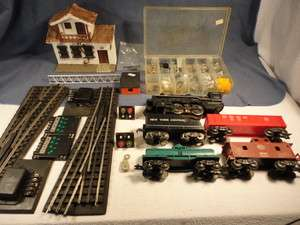 Lot Train Engine Tender Car Set + Track & Accessories! Caboose Switch