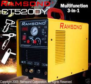 RAMSOND CT520DY 3 IN 1 PLASMA CUTTER TIG ARC MMA WELDER