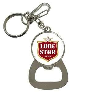 LoneStar Beer LOGO Bottle Opener Key Chain