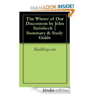 The Winter of Our Discontent by John Steinbeck  Summary & Study Guide