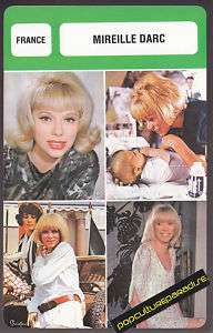 MIREILLE DARC France Star FRENCH BIOGRAPHY PHOTO CARD