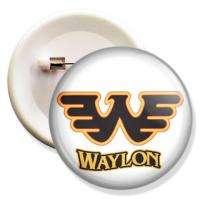 NEW Waylon Jennings Custom Cotton Unisex T shirt FREE PIN BUTTON BADGE