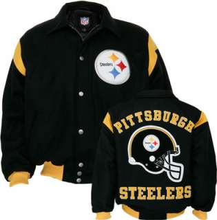 Pittsburgh Steelers Team Color Wool Varsity Jacket