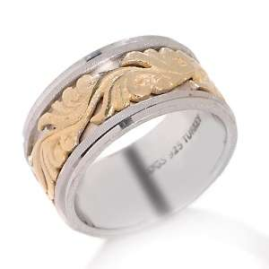 Sterling Silver 2 Tone Spinner Ring at HSN