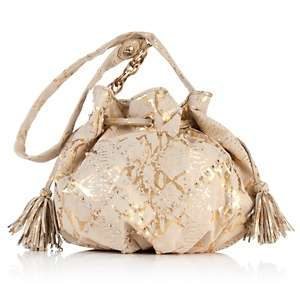 Elliott Lucca Milana Leather Twist Drawstring Bag