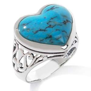 Turquoise Sterling Silver Heart Ring