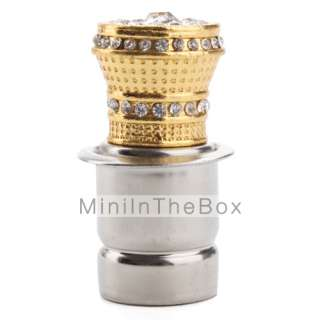 US$ 6.19   Car Cigarette Lighter with Decorative Gold Crystals (Golden