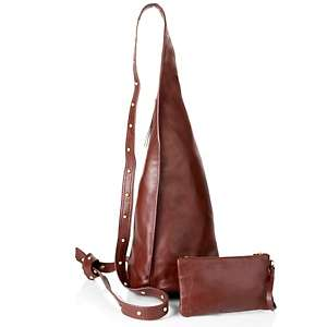 Patti for Hung On U Lucie Leather and Studs Crossbody Bag