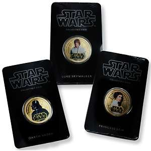 Star Wars 24K Gold Plated Coin Trio with AutoShip