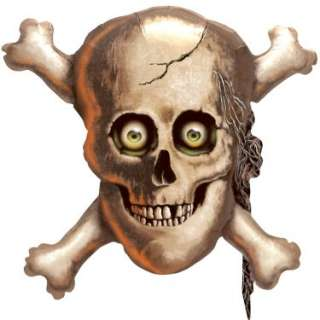 Halloween Costumes Skull and Cross Bones Shaped Jumbo 32 Foil Balloon